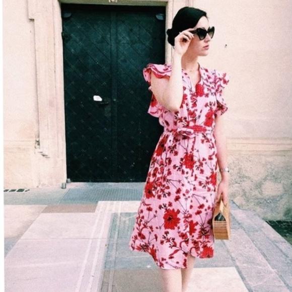 d4969558b23b Zara Dresses | Floral Print Linen Tunic Dress | Poshmark